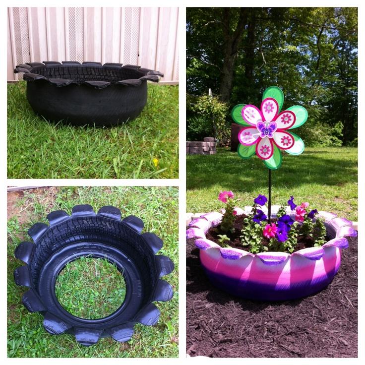 ... Garden Ideas Using Tyres