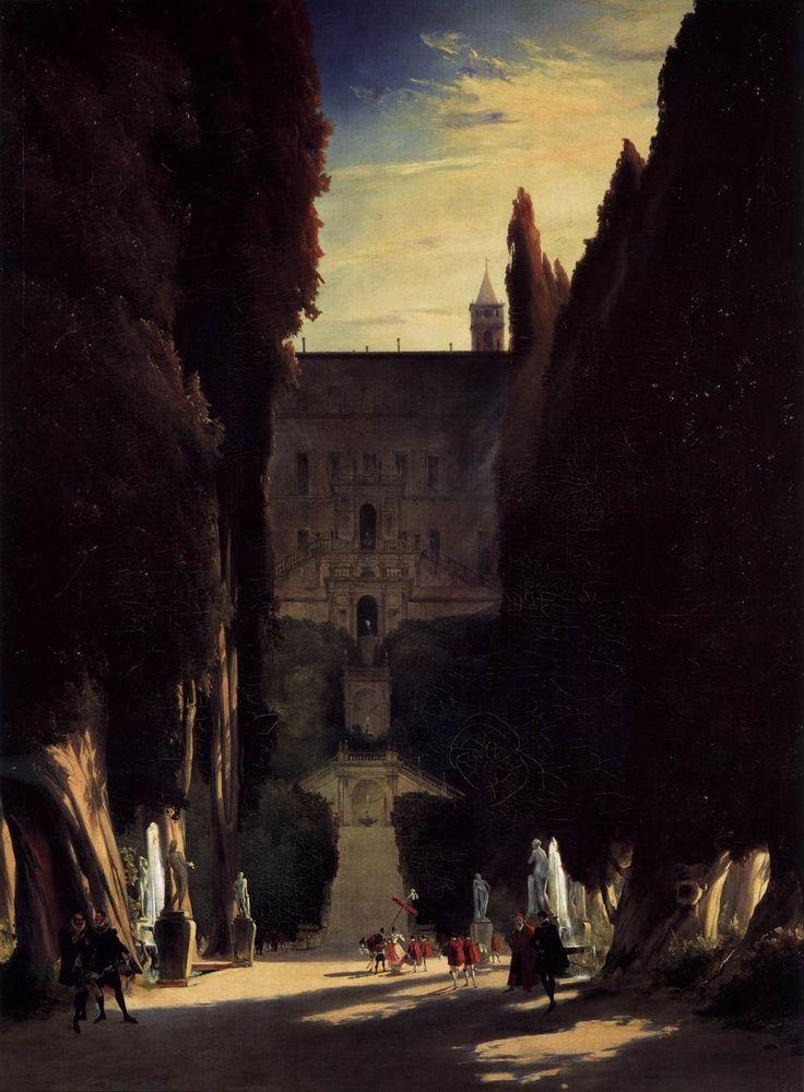 Karl BC.lechen. Tivoli Gardens at the Villa d'Este. 1831-32. P.: Photo