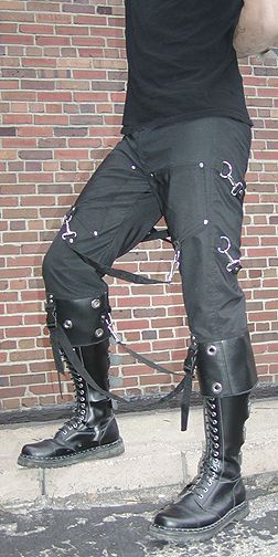Amoeba Meltdown pants by SludgeFaktory #goth #punk #industrial #rivethead #mens