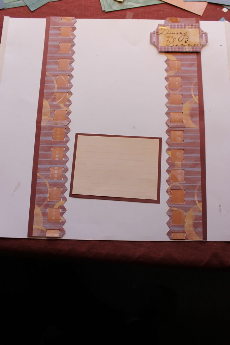Scrapbook border ideas - Jewel Paper With The Picket Fence