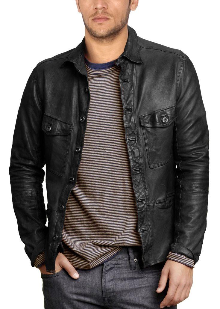 Trendy Leather Shirt for Men