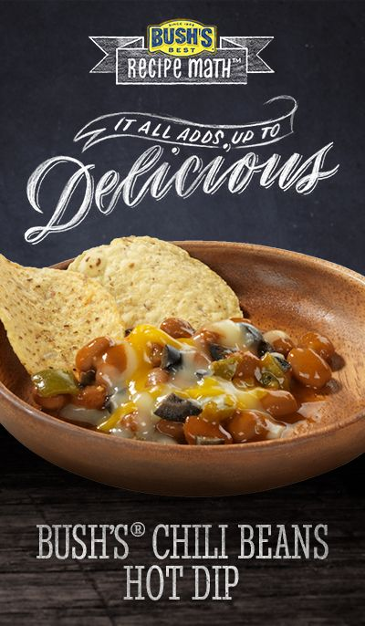 Bush's® Chili Beans Hot Dip: Looking for tailgating recipes? This layered dip, made with Bush's® Chili Beans, is a crowd-pleaser!