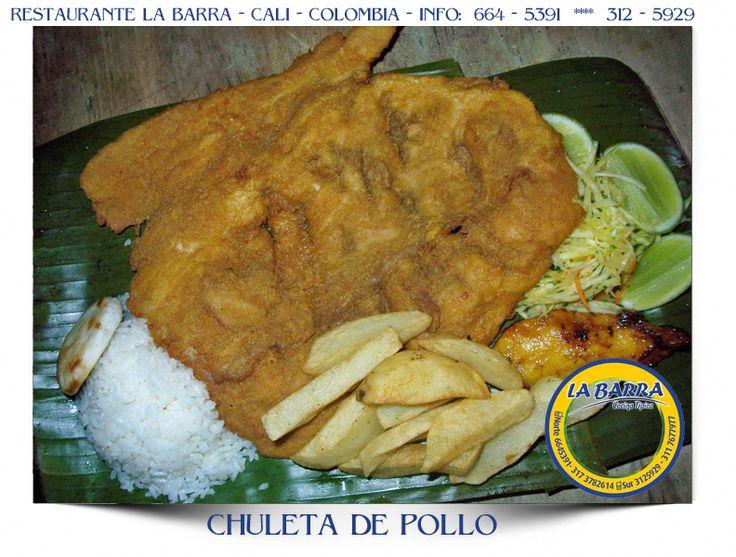 Restaurante La Barra - Chuleta de Pollo - #Cali #Colombia