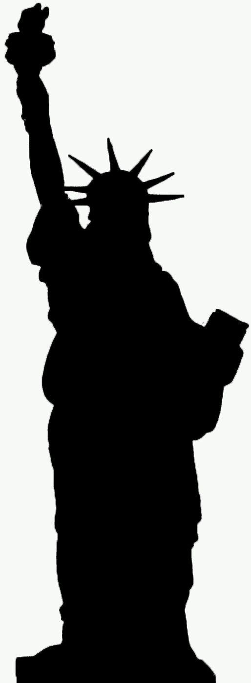 black and white statue of liberty image | statue liberty sillouhette