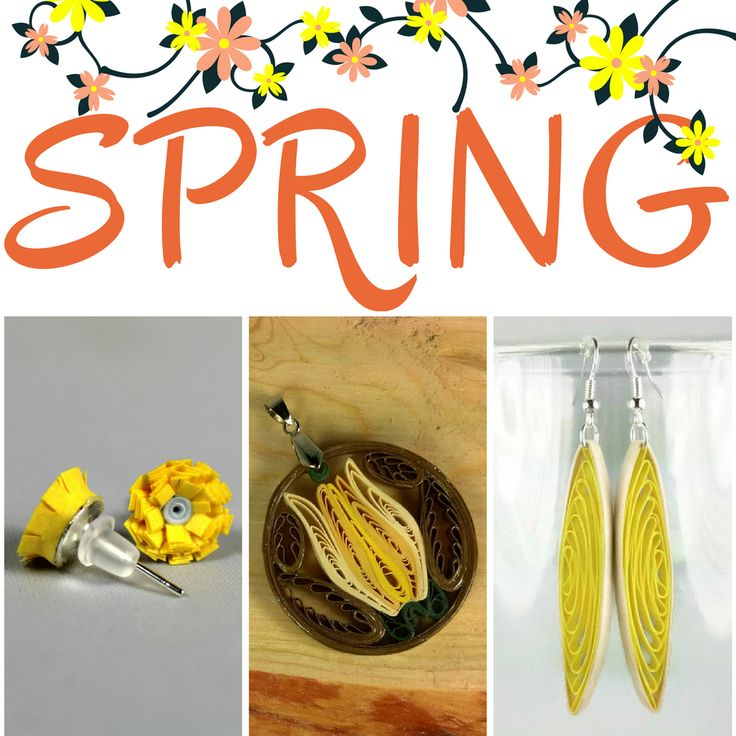 Spring cleaning on the brain?  Don't forget to spruce up your look with #springjewelry looks. Made from paper.  Water resistant. #springstyle #springfashion #springflowers