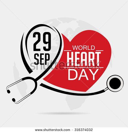 Vector illustration World Heart Day Background.