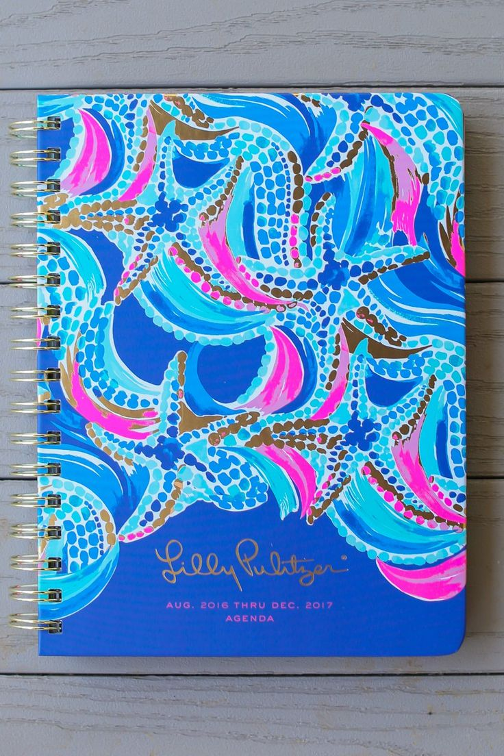 Lilly Pulitzer Ocean Jewels 17 Month Large Agenda at reddressboutique.com