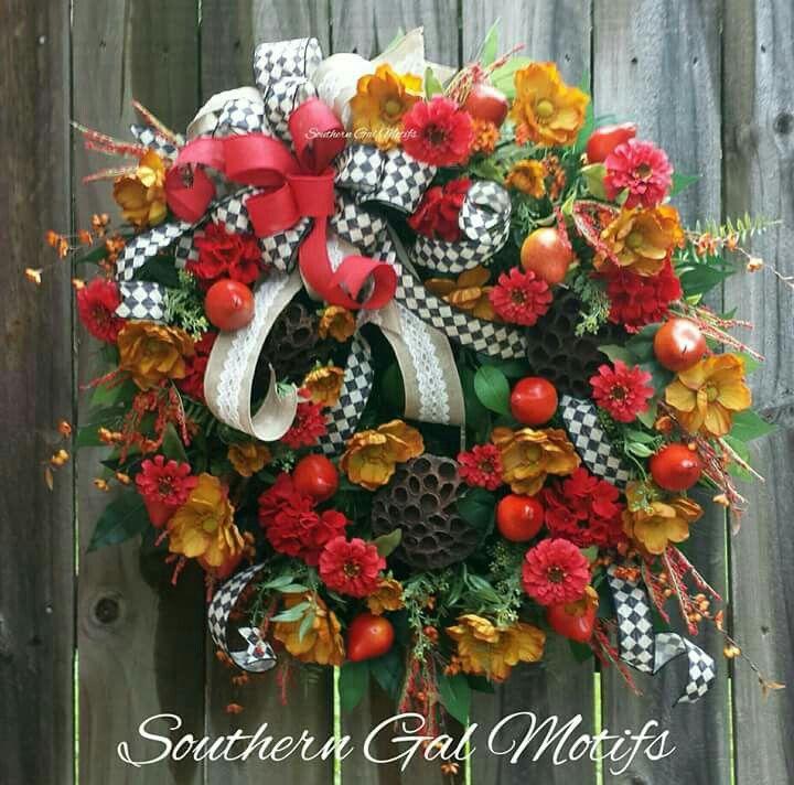 Custom Order Williamsburg inspired wreath by Southern