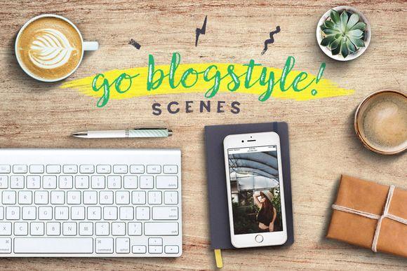 Go Blogstyle! Feminine Scenes Set by Frisk Shop on @creativemarket