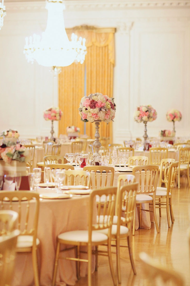beach weddings in orange county ca%0A A classic wedding reception in the east room at the Nixon Library  Photo by  Desi