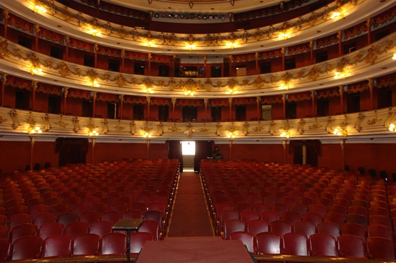 The beautiful Municipal Theater of Cali, Colombia. Teatro Municipal Enrique Buenaventura.