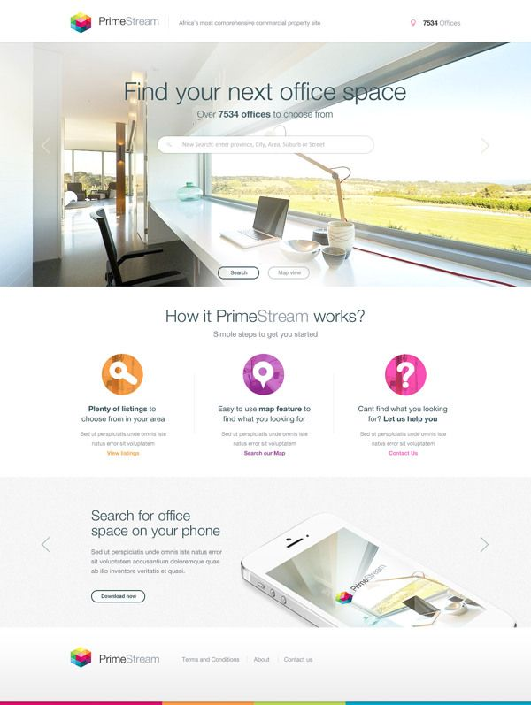 Property site - Design Concept by Lisa McColl, via Behance