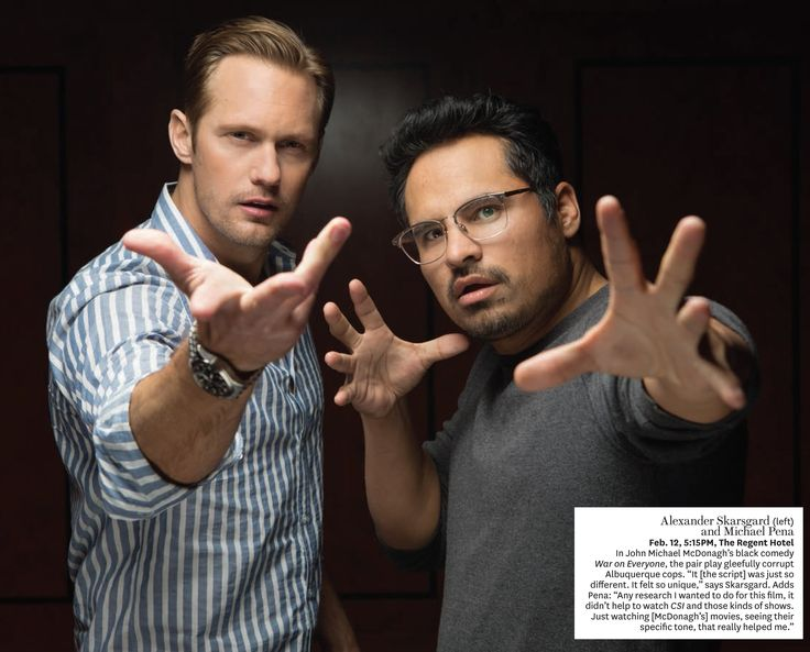 Alexander Skarsgard And Michael Peña Photographed By Fabrizio Maltese At The 2016 Berlin International Film Festival February Pm Regent Hotel