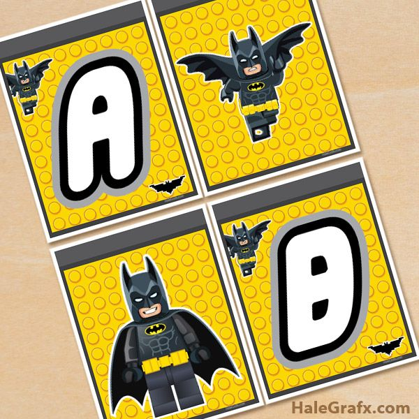 Click here to download a FREE Printable LEGO Batman Alphabet Banner Pack!