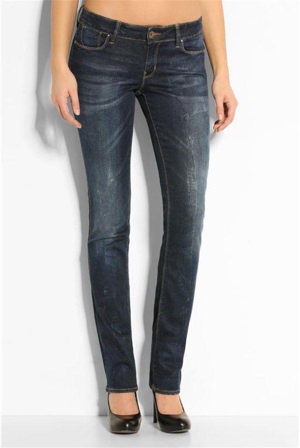 Dámske cigaretové džínsy 'X-Perience', stredne vysoký pás, tmavo modrá - Guess | Stilago