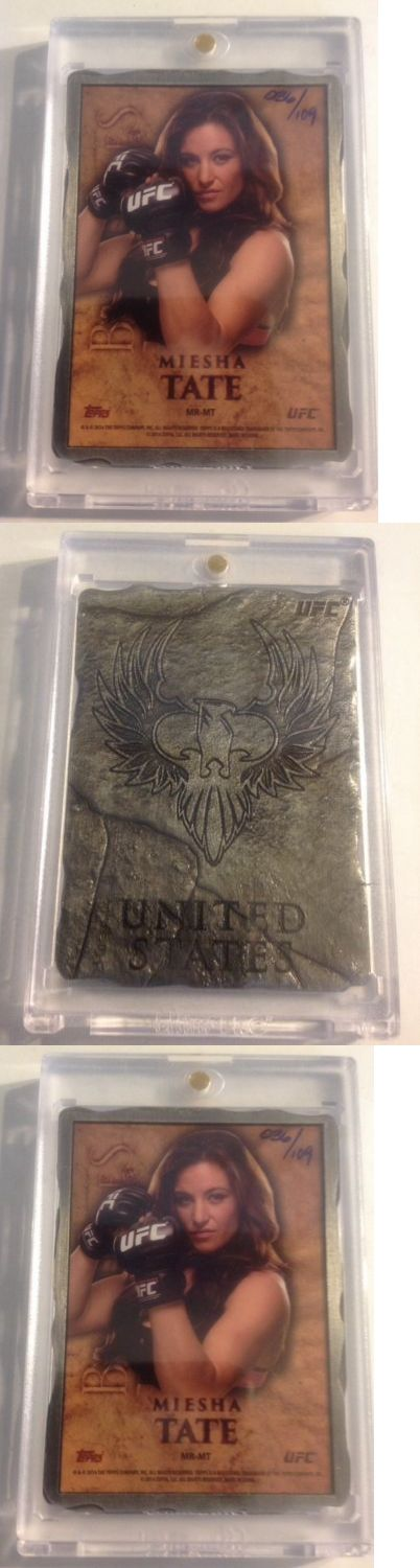 Mixed Martial Arts MMA Cards 170134: Miesha Tate 2014 Topps Ufc Bloodlines Engraved Engot Medallion #Mr-Mt 109 -> BUY IT NOW ONLY: $40 on eBay!