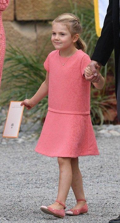 Princess Estelle at the Christening of her cousin, Prince Alexander (September 9, 2016) [x]
