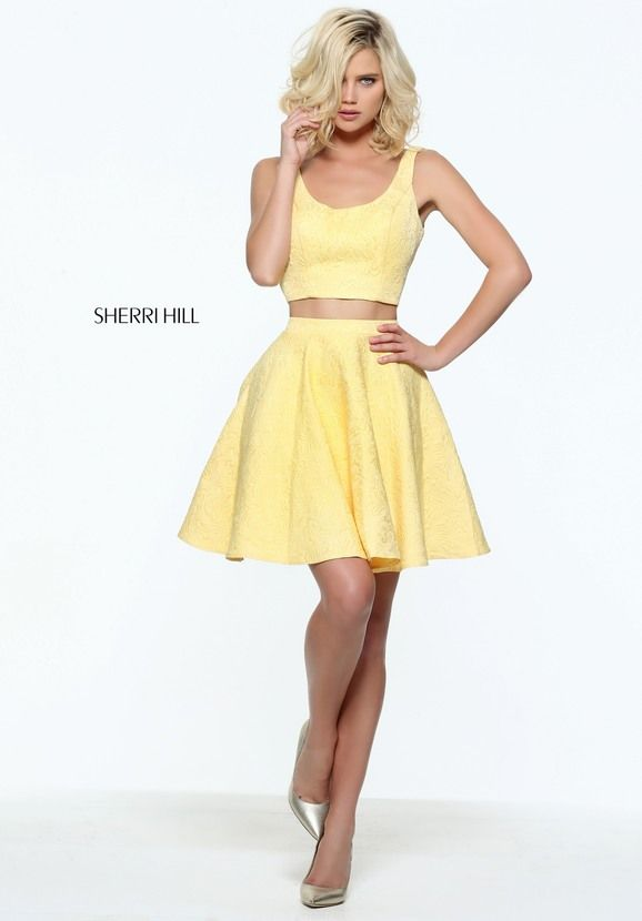 s51072 - SHERRI HILL #vestido #amarillo #2017  Reception dress