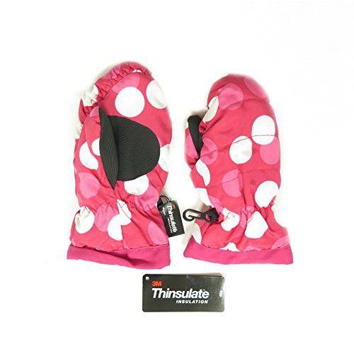Oshkosh B'gosh Kids Toddlers Fleece Lined Winter Snow Glove Waterproof Pink Polka dot 2-4T mittens
