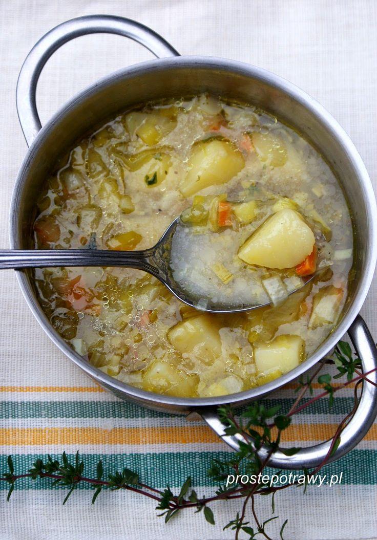 Proste Potrawy: Zupa porowa z ziemniakami