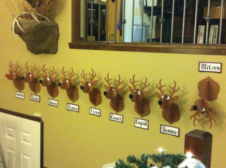 Reindeer wall decoration.