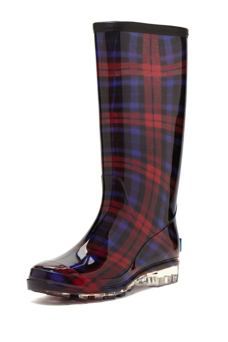Plaid Tall Rain Boot