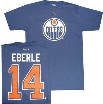 Edmonton Oilers Jordan Eberle Reebok Royal Blue T Shirt | StadiumStyle.com