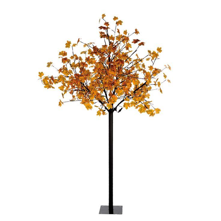 LED-Stehleuchte Baum by Leuchten Direkt - Eisen/Kunststoff - Schwarz
