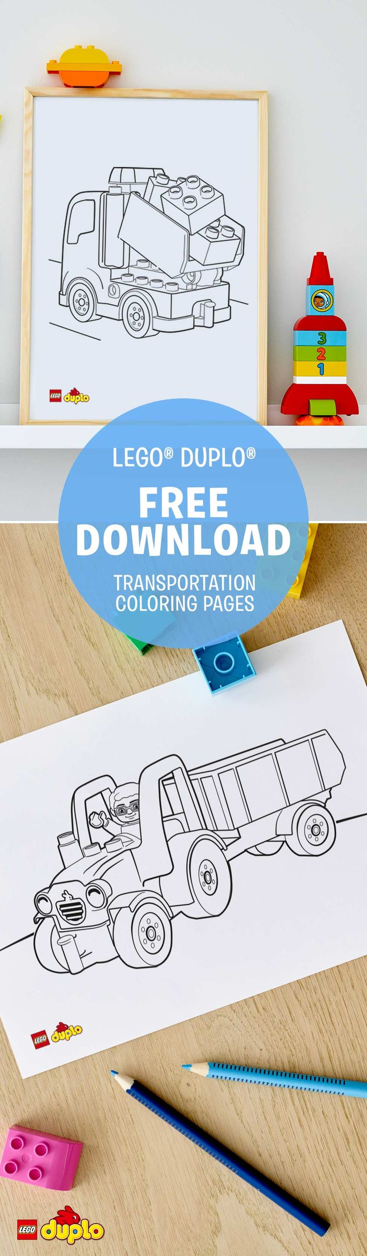 Does your little one love everything with wheels? Download these cute LEGO DUPLO coloring pages for some creative fun! And when you are done coloring, your little builder can take his LEGO DUPLO bricks and build what he just colored. http://lego.build/29ebDiI