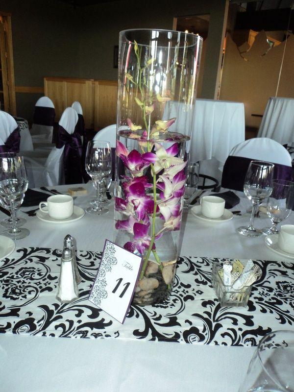 Plum Orchids 1 - Silva Designs - Wedding Decor & Rentals