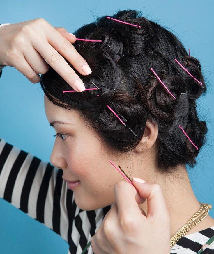 friser ses cheveux avec bobby pins sans utiliser fer chauffant
