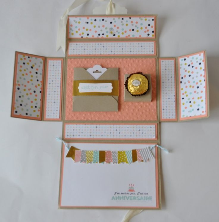 Tutoriel boîte surprise par Marie Meyer Stampin up - http://ateliers-scrapbooking.fr/