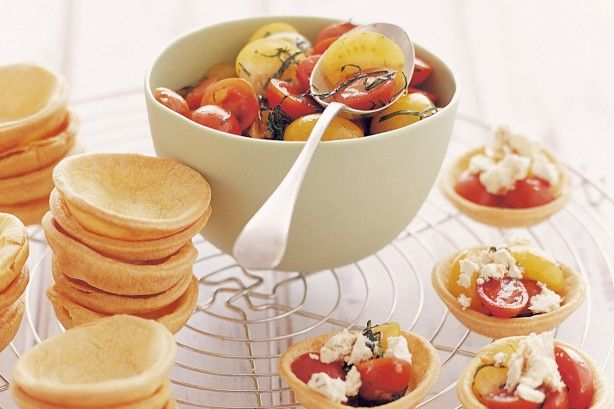 These tasty little tarts are a perfect light meal, after-school snack or starter…