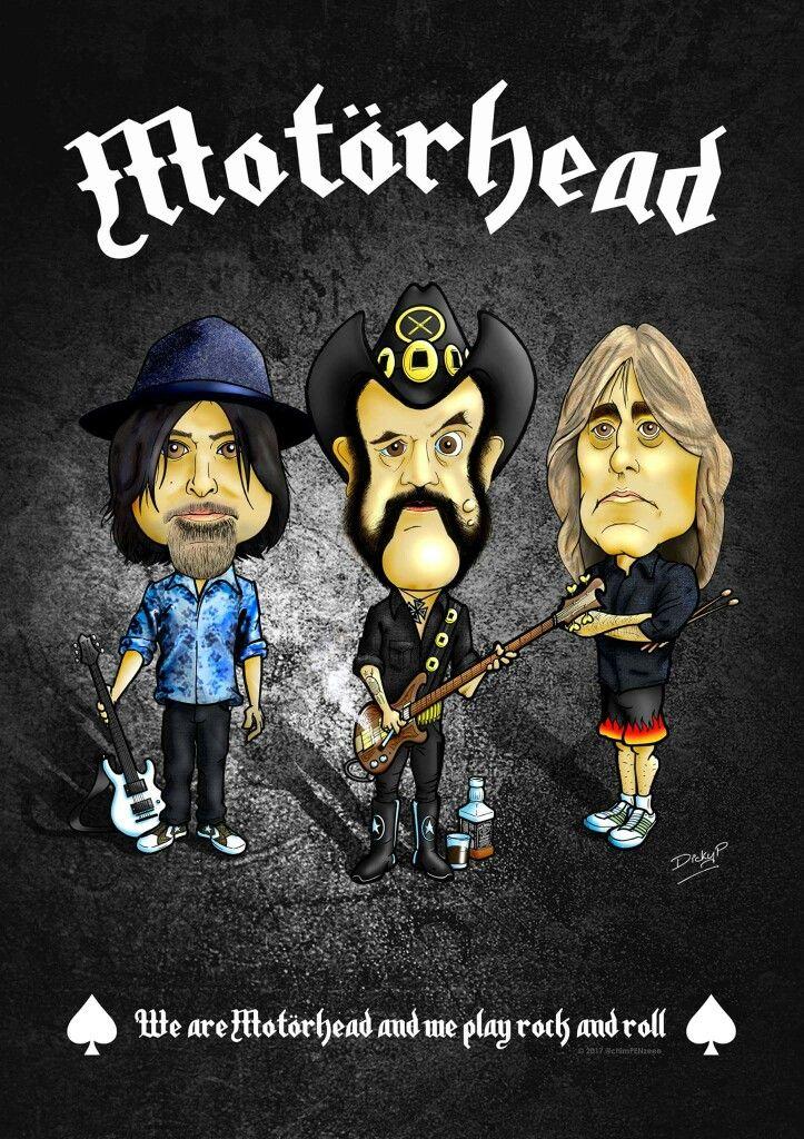 Motorhead Lemmy Kilmister Phil Campbell Mikkey Dee cartoon @chimPENzeee