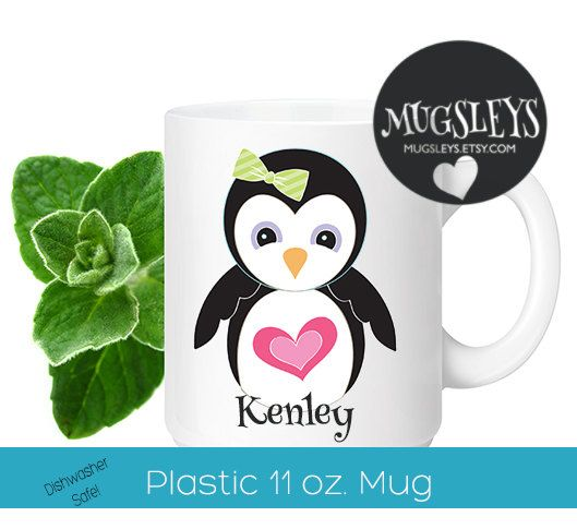 64 best products images on pinterest funny coffee mugs coffee kids easter gifts personalized penguin cup penguin mug toddler cup custom name kids mug 1st birthday gift girls gifts negle Image collections