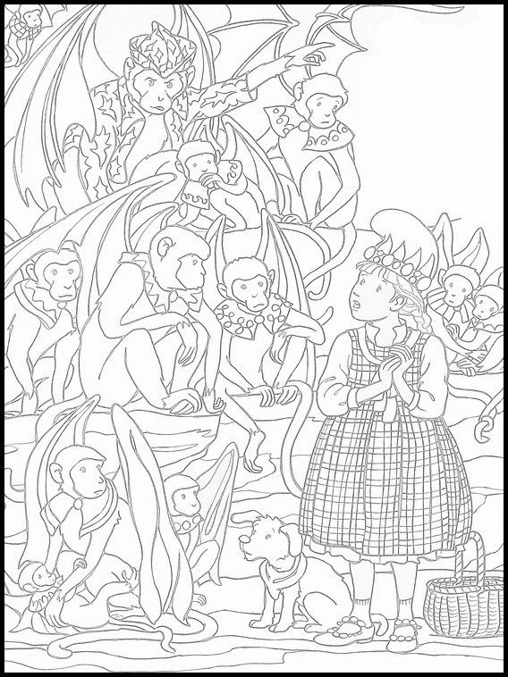 The Wizard Of Oz Printable Coloring Pages 19 Coloring Pages Coloring Books Online Coloring