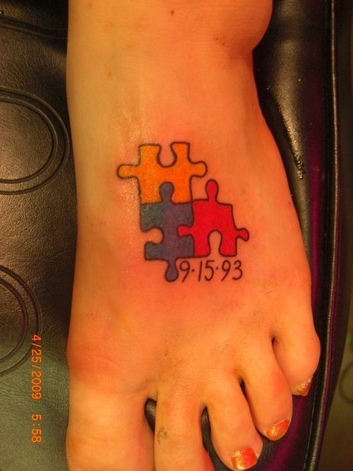 autism tattoo for my little sister