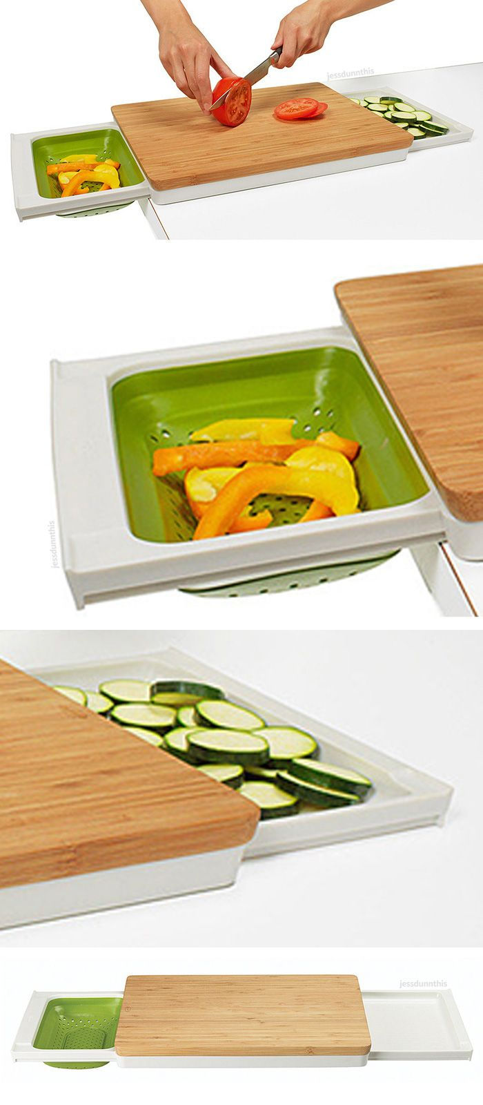 Three in one prep station cutting board large chopping - Utensilios cocina originales ...