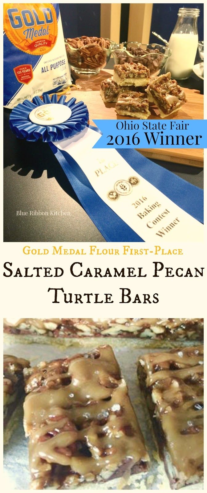 Blue Ribbon Kitchen: Please Meet The Newest Award-Winning Cookie: Salted Caramel Pecan Turtle Bars