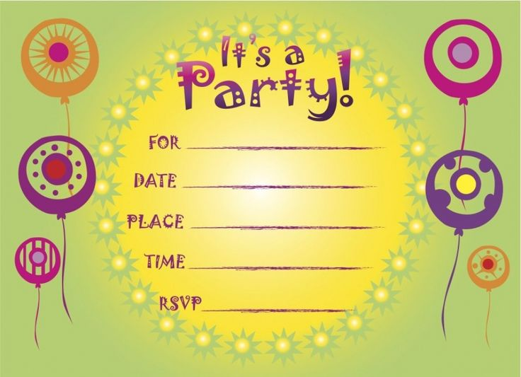 best 25+ free birthday invitations ideas on pinterest | summer, Invitation templates