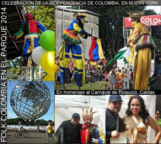 """ALBUM DE FOTOS EN GOOGLE+ DE LA CELEBRACION DE LA INDEPENDENCIA DE COLOMBIA EN NUEVA YORK. DEL 20 JUL 2014   """"FOLK COLOMBIA EN EL PARQUE 2014"""" (FOTOS POR ARTUR CORAL)"""