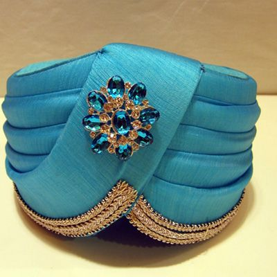 Stunning Firozi Turban in Sing is King Pattern