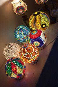 Creative Company | Classy Glass Art: Round beaded lampshades