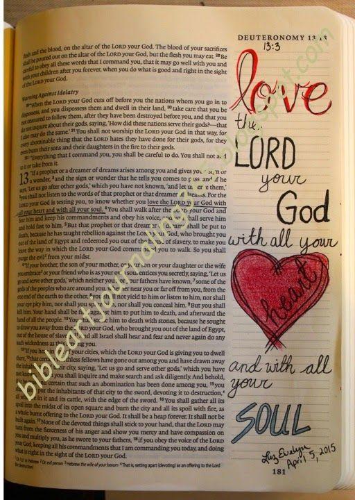 Easy Bible Art Journaling Journey: Deuteronomy 13:3 (April 5th)