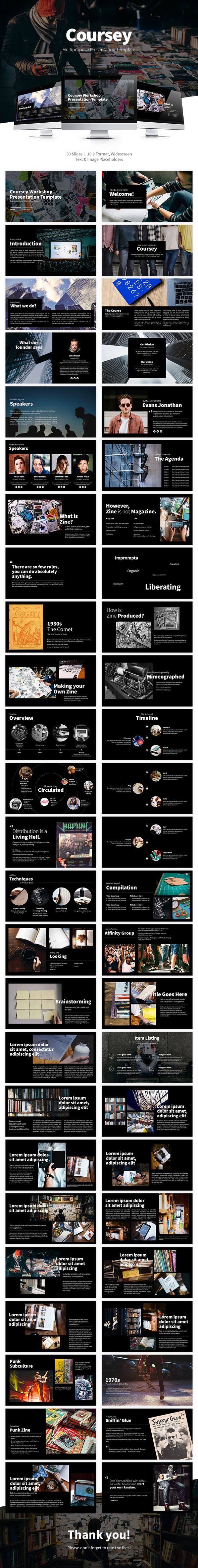 Coursey #Multipurpose #Powerpoint Presentation Slide - PowerPoint Templates #Presentation Templates