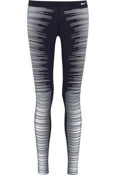 NEED THESE FOR REAL!!!!!!!! #NightRun #MorningRun #WinterRun Nike Printed Reflective stretch-jersey leggings   NET-A-PORTER