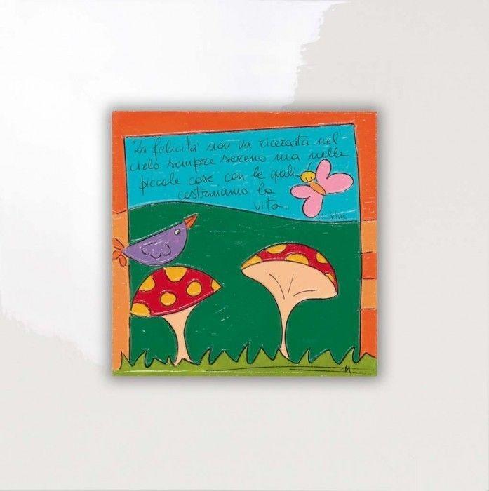 SALVADORIARTE dipinto a mano - quadro 28x28 - decorazione arredo casa aforisma B