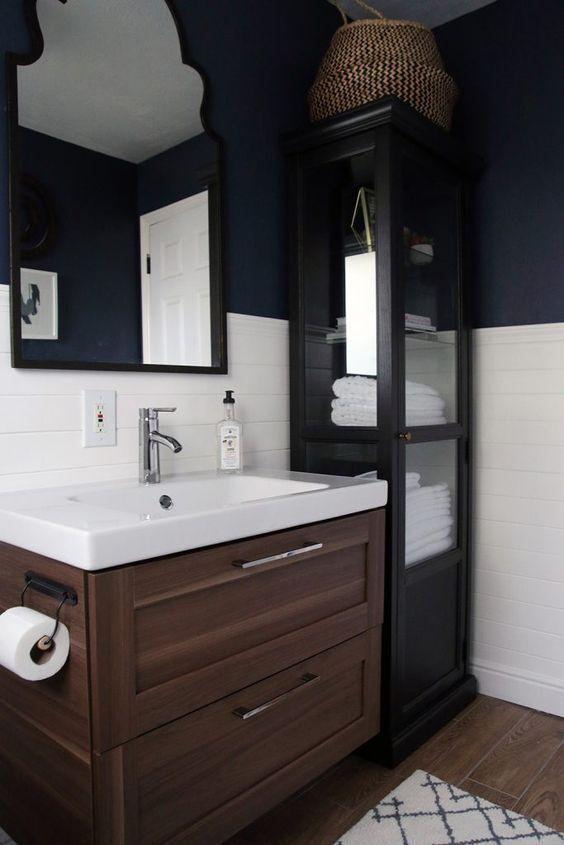 Vanity and Linen cabinet
