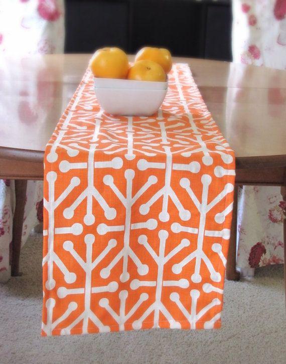 Orange Table Runner  Mandarin Table Runner. Premier by KikoyChic, $16.00