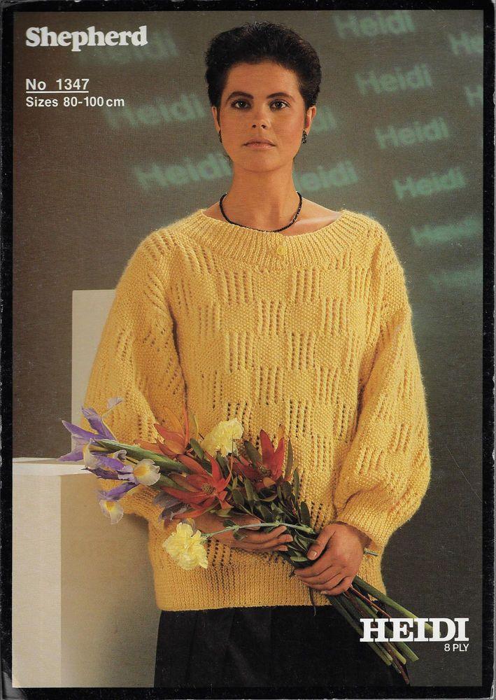 Details About Womens Textured Sweater Shepherd 1347 Knitting